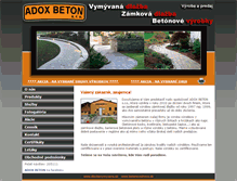 Tablet Preview of adoxbeton.sk